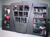 Family room bookshelves