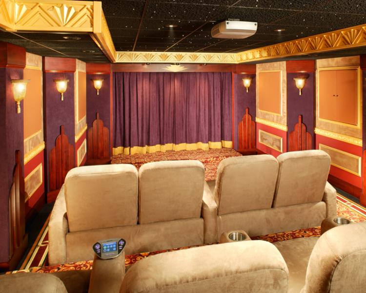 Custom Home Movie Theater Design Photos Gallery - Cinema   Ideas