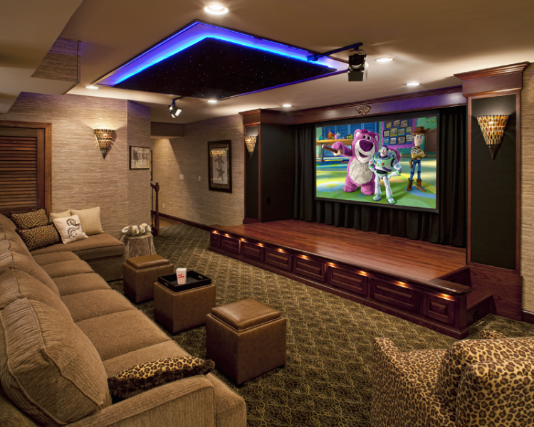 Stunning Performance Home Theater With Stage Rooms Design Ideas