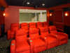 Home Theater showing rear viewing window