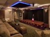 Performance home theater with curtain closed