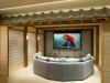 Japanese theme theater with screen