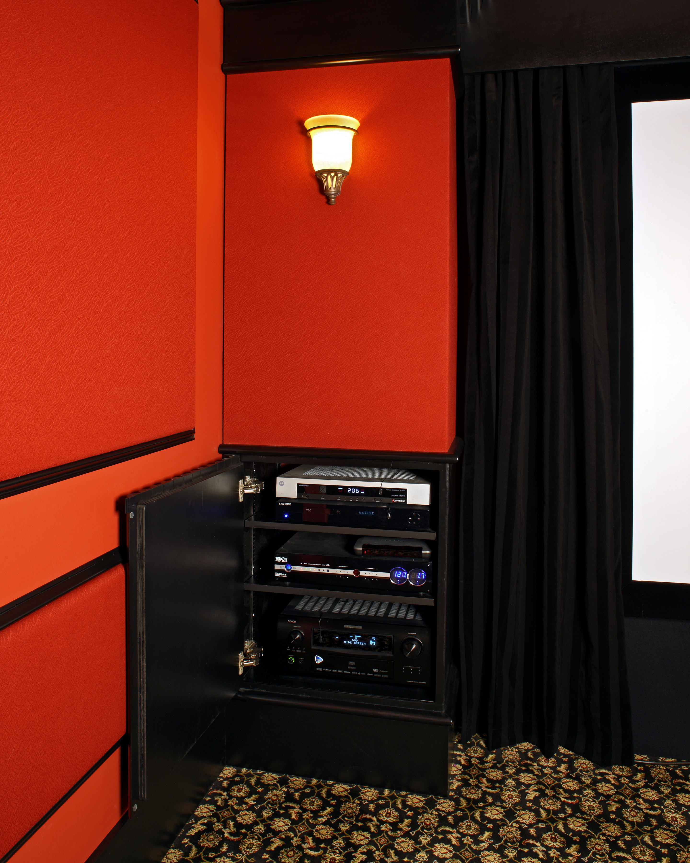Home Theater Equipment In Column