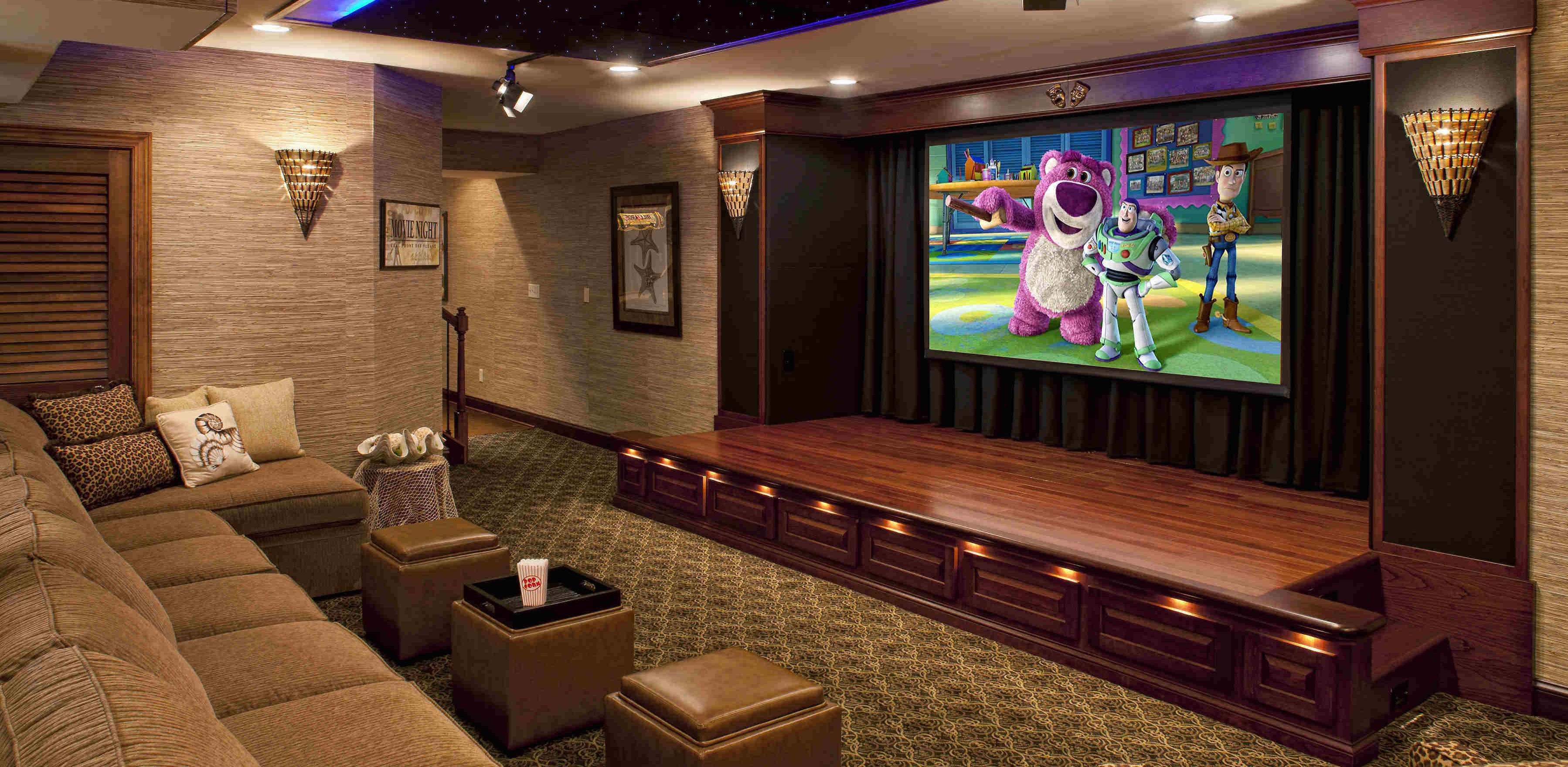 Home Movie Theater Design House Automation Installation - Designing home theater