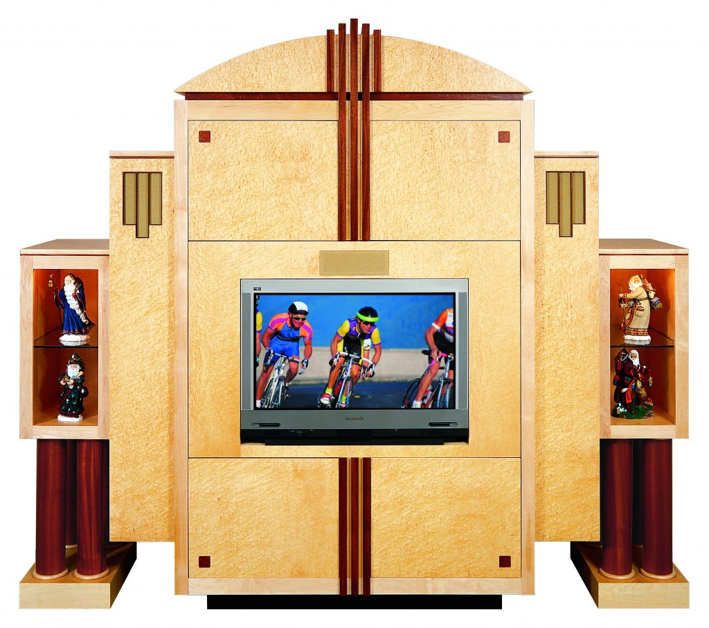 Gentil Birds Eye Maple Cabinet. Media Rooms ...
