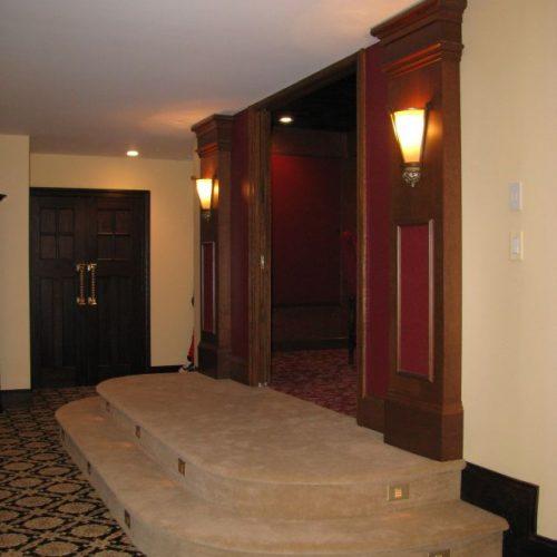 English Pub theater doors
